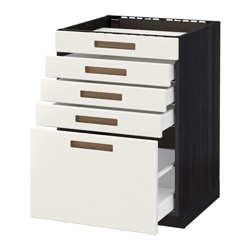 ... fronter/4 skuffer - trem?nstret svart, M?rsta hvit, 60x60 cm - IKEA