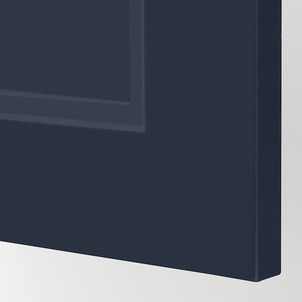 METOD / MAXIMERA Benkeskap med 3 skuffer, hvit Axstad/matt blå, 40x37 cm