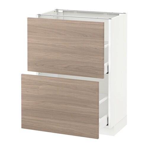 METOD / MAXIMERA Benkeskap med 2 skuffer IKEA Innebygde dempere gj?r ...