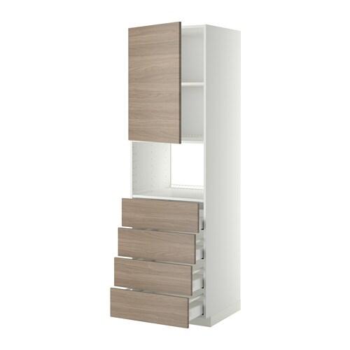 ... skuffer - hvit, Brokhult valn?ttm?nstr lys gr?, 60x60x200 cm - IKEA