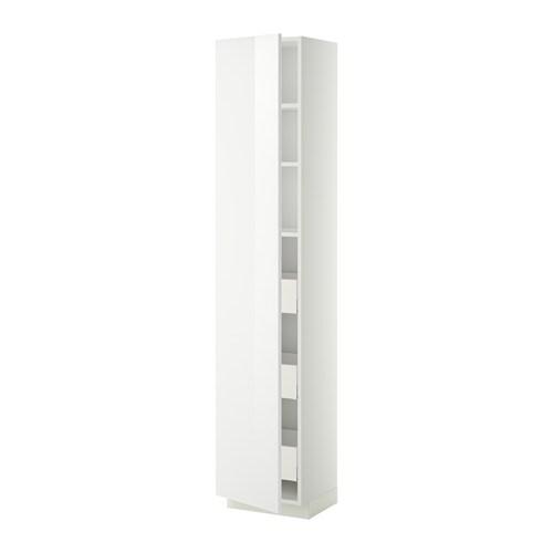 ... skuffer - hvit, Ringhult h?yglans hvit, 40x37x200 cm - IKEA