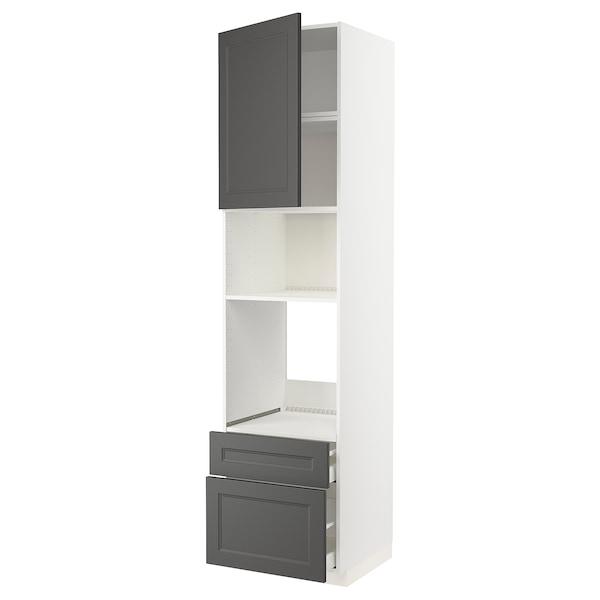 METOD / MAXIMERA Hsk f ov/mikro m sk/2 sk, hvit/Axstad mørk grå, 60x60x240 cm