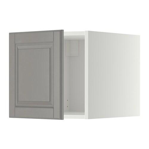 METOD Overskap - hvit, Bodbyn grå - IKEA