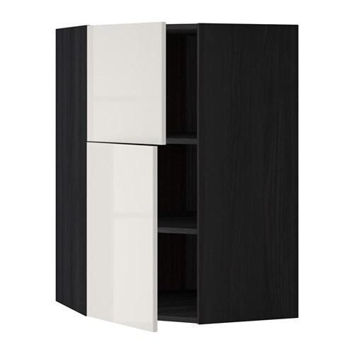 METOD Vegghj?rneskap m hyller/2 d?rer IKEA Du kan tilpasse avstanden ...