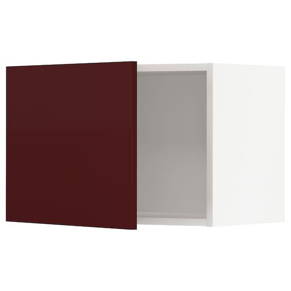 METOD Veggskap, hvit Kallarp/høyglans mørk rød-brun, 60x40 cm