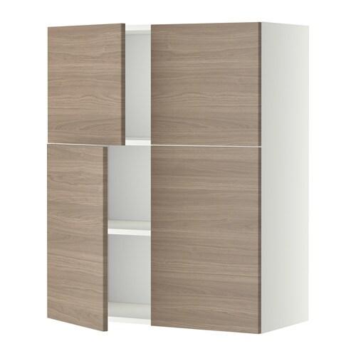 METOD Veggskap m hyller/4 d?rer IKEA Du kan tilpasse avstanden etter ...