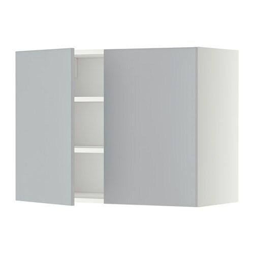 Ikea Kok Veddinge Gra : METOD Veggskap m hyller2 dorer IKEA Du kan tilpasse avstanden etter
