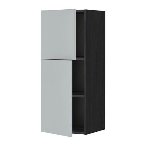 Ikea Kok Veddinge Gra :  hyller2 dorer  tremonstret svart, Veddinge gro, 40×100 cm  IKEA