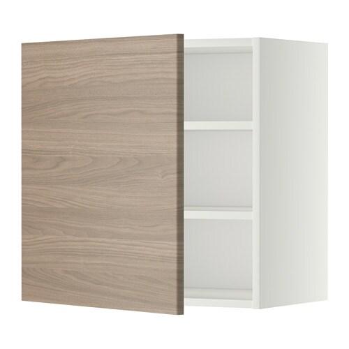 METOD Veggskap med hylleplater IKEA Du kan tilpasse avstanden etter ...