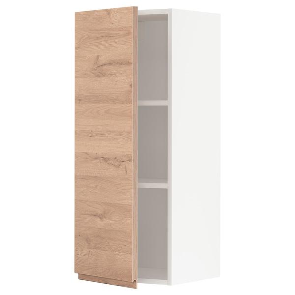 METOD Veggskap med hylleplater, hvit/Voxtorp eikemønstret, 40x100 cm