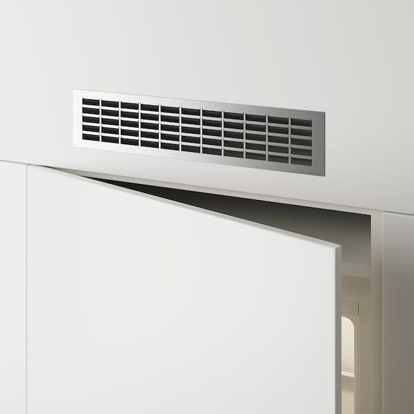 METOD Ventilasjonsgitter, rustfritt stål