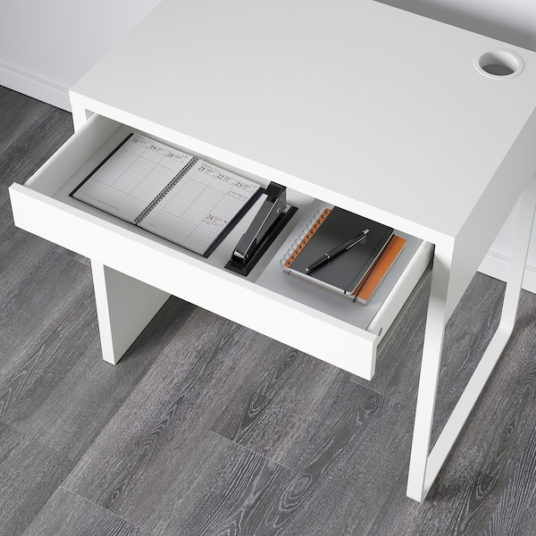 MICKE Arbeidsbord, hvit, 73x50 cm