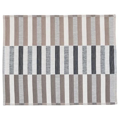 MITTBIT kuvertbrikke svart beige/hvit 45 cm 35 cm