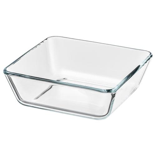MIXTUR ovns-/serveringsfat klart glass 15 cm 15 cm 5 cm