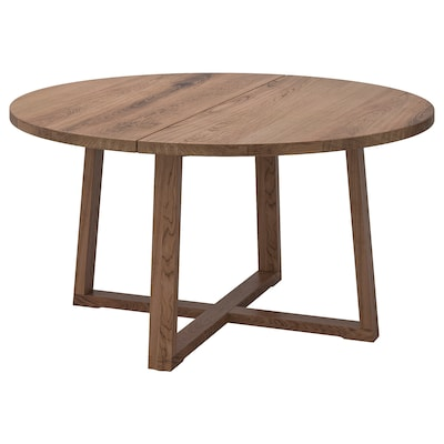 MÖRBYLÅNGA bord eikefiner brunbeiset 145 cm 75 cm