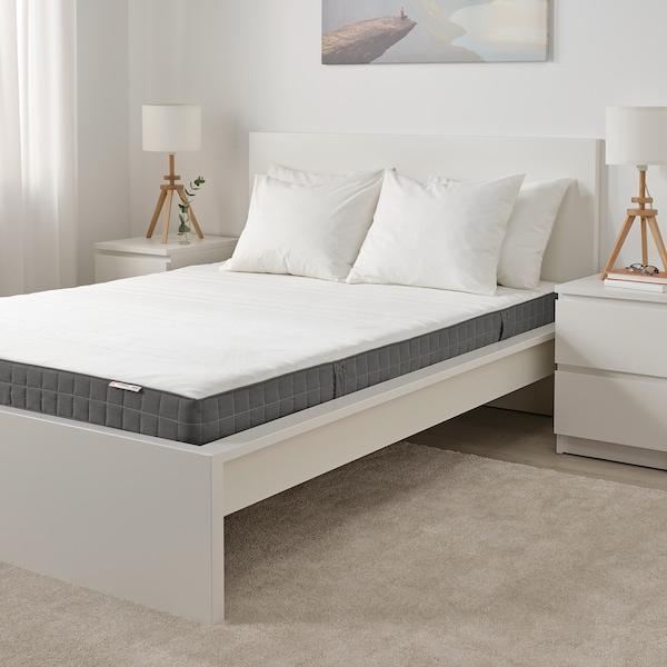 MORGEDAL Polyeter-/skummadrass, medium/mørk grå, 160x200 cm