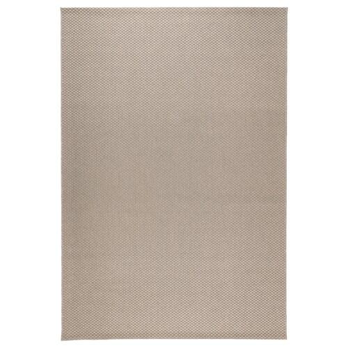MORUM teppe flatvevd, inne/ute beige 300 cm 200 cm 5 mm 6.00 m² 1385 g/m²
