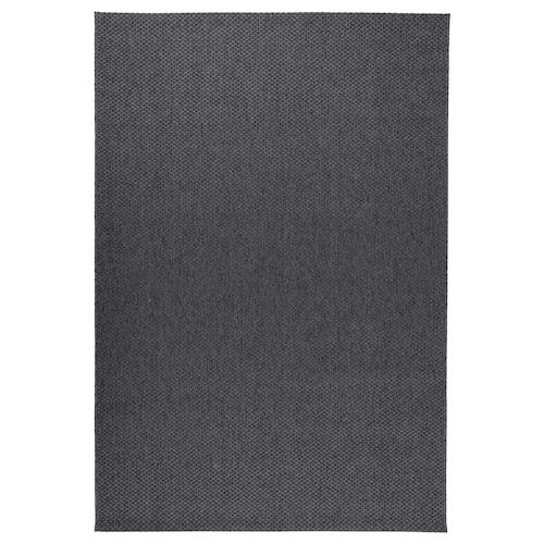 MORUM teppe flatvevd, inne/ute mørk grå 300 cm 200 cm 5 mm 6.00 m² 1385 g/m²