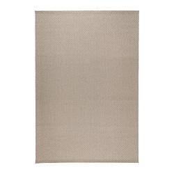 MORUM teppe, flatvevd, inne/ute beige beige