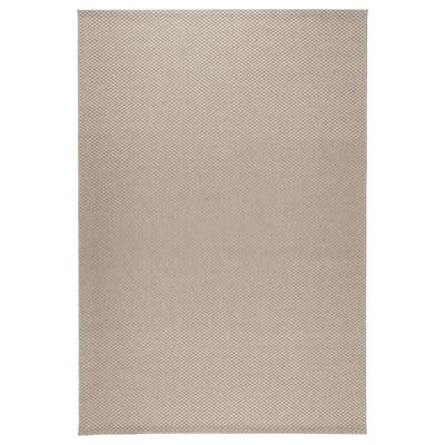 MORUM Teppe flatvevd, inne/ute, beige, 160x230 cm