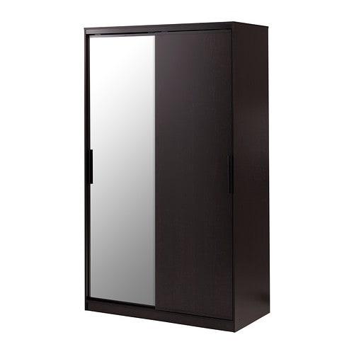 Morvik garderobeskap   brunsvart/speil   ikea