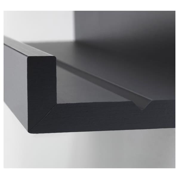 MOSSLANDA bildehylle svart 55 cm 12 cm 5.00 kg
