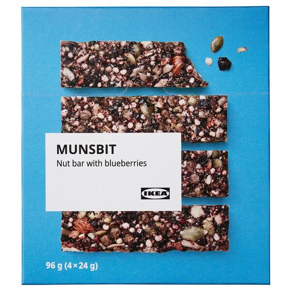 MUNSBIT Nøttebar, med blåbær, 96 gx4 pieces