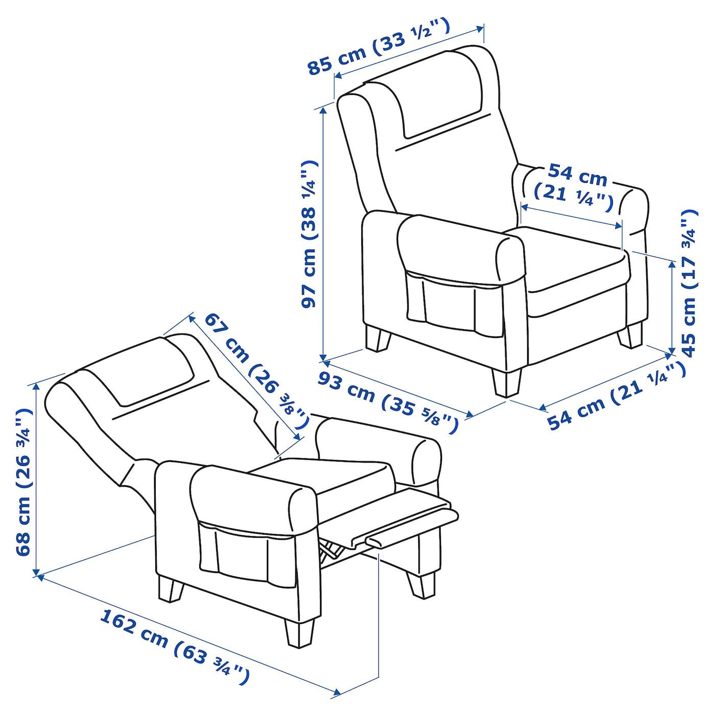 MUREN Hvilestol Remmarn mørk grå IKEA