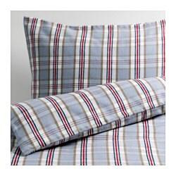 MYRTENTÖREL enkelt sengesett, blå, rød