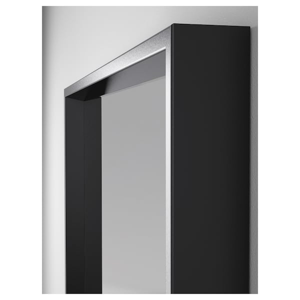 NISSEDAL Speil, svart, 65x65 cm