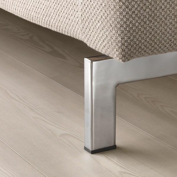 NOCKEBY 3-seters sofa med sjeselong, venstre/Lejde mørk beige/forkrommet 277 cm 82 cm 97 cm 175 cm 15 cm 60 cm 138 cm 44 cm