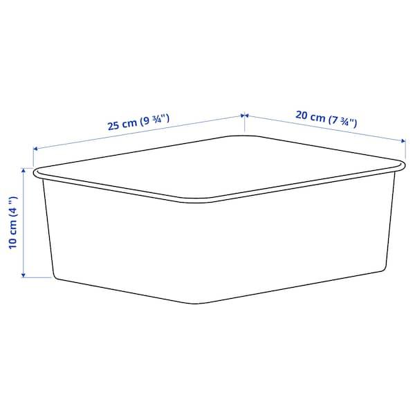 NOJIG Oppbevaring, plast/beige, 20x25x10 cm