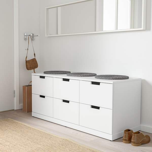 Nordli Kommode 6 Skuffer Hvit Ikea