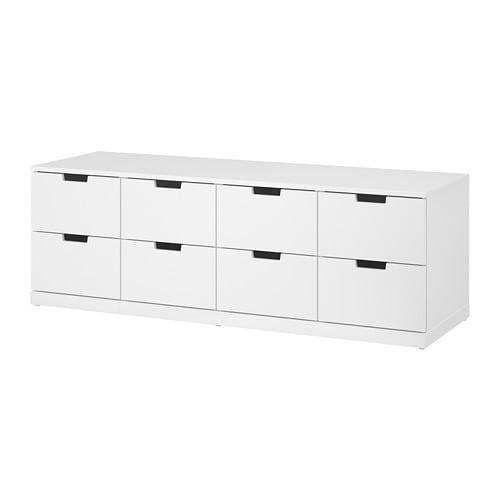 nordli kommode med 8 skuffer hvit ikea. Black Bedroom Furniture Sets. Home Design Ideas