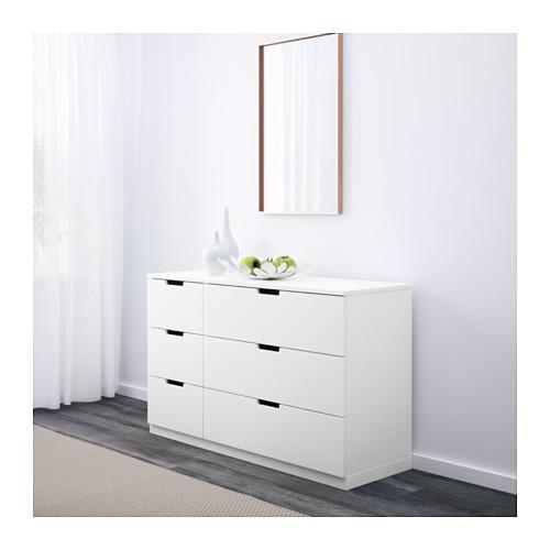 nordli kommode 6 skuffer ikea. Black Bedroom Furniture Sets. Home Design Ideas
