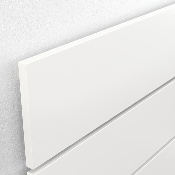 NORDLI Seng med oppbevaring og hodegavl, hvit, 160x200 cm