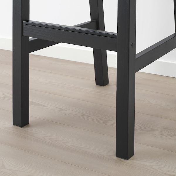 NORDVIKEN Barstol, svart, 75 cm