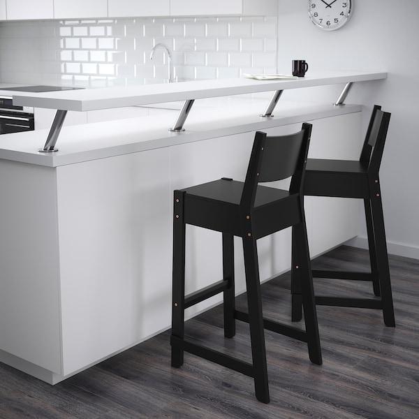NORRÅKER Barstol, svart, 74 cm