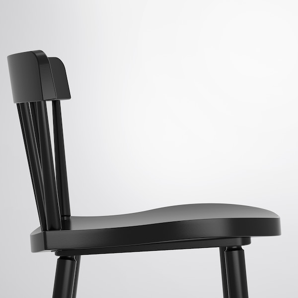 NORRARYD Barstol, svart, 74 cm