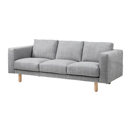NORSBORG 3 seters sofa Isunda grå, bjork IKEA