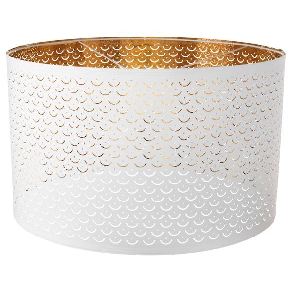 NYMÖ Lampeskjerm, hvit/messingfarget, 59 cm