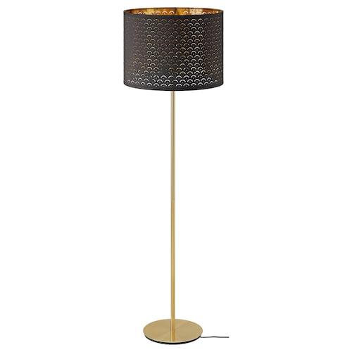 NYMÖ / SKAFTET gulvlampe svart messing/messing 44 cm 29 cm