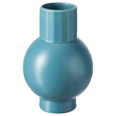 OMFÅNG Vase, blå, 20 cm
