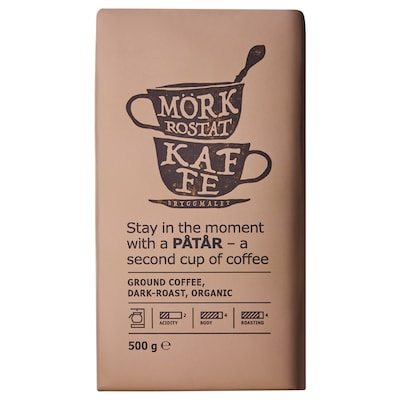 PÅTÅR Filterkaffe, mørkbrent, økologisk/UTZ-sertifisert/100 % arabicabønner