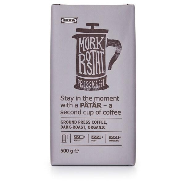 PÅTÅR Presskaffe, mørkbrent, økologisk/UTZ-sertifisert/100 % arabicabønner