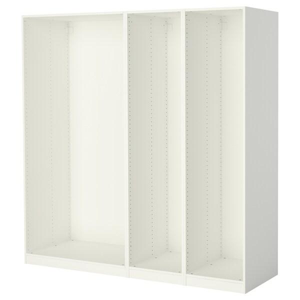 PAX 3 garderobestammer hvit 199.6 cm 58.0 cm 201.2 cm
