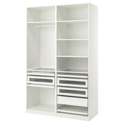 PAX Garderobekombinasjon, hvit, 150x58x236 cm