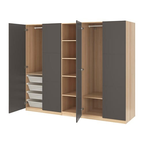 pax garderobeskap 250x60x201 cm ikea. Black Bedroom Furniture Sets. Home Design Ideas