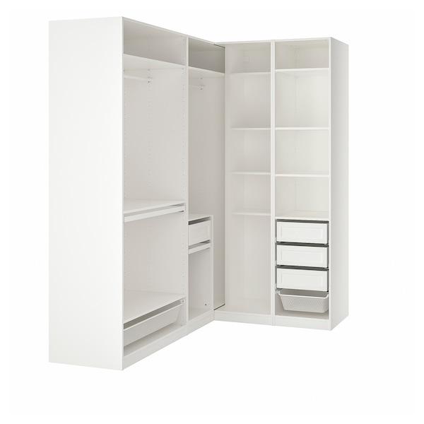 PAX Garderobeskap, hjørneløsning, hvit, 210/160x236 cm