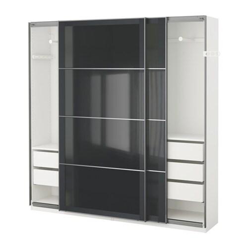 pax garderobeskap 200x44x201 cm ikea. Black Bedroom Furniture Sets. Home Design Ideas